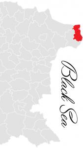 shabla municipality map - bulgarian black sea coast
