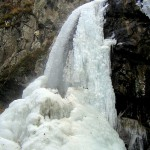 boyana falls - in the winter