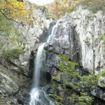 boyana falls - under the waterfall