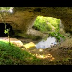 gods bridge rocks - under the bridge and down the river