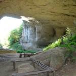 gods bridge rocks - under the bridge a resting place