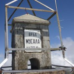 the monument on top of Musala peak