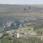 cherven fortress - panoramic view from the sky