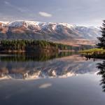dushantsi dam - mountain panorama