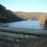 the wall of the Pasarel dam