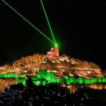 Tsarevets fortress - panoramic view of the Light and Sound visual show