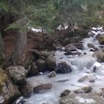 the river near the golden bridges