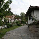 view of the streets in the old varosha district in the city of Blagoevgrad
