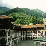 rila monastery - a view of the inner yard