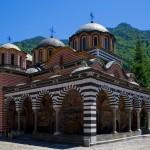 rila monastery - the church inside the yard