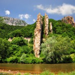ritlite rocks - a view of the rocks from the Iskar river