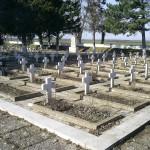 part of the military cemetery in Tutrakan war memorial