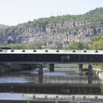 the covered bridge in the city of lovech