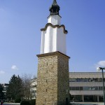 the clocktower in the town of botevgrad