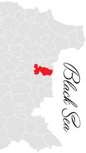 avren municipality map - bulgarian black sea coast