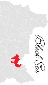 burgas municipality map - bulgarian black sea coast