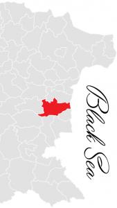 dolni chiflik municipality map - bulgarian black sea coast