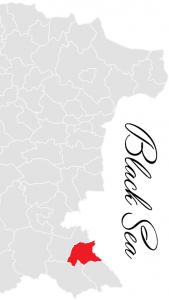primorsko municipality map - bulgarian black sea coast