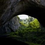 the entrance of the Devetashka cave