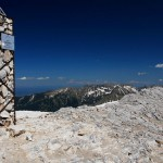 vihren peak - on the top of the mountain