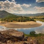 the arda river meanders - panoramic view near Madjarovo