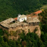 glozhene monastery panoramic view from the sky