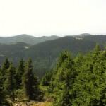 panoramic view of the distant golyam perelik peak