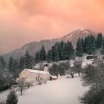 a winter panorama of the golyam perelik peak