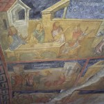 the murals inside the church