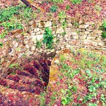Sacred well - a photo of the stairs