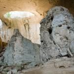prohodna cave - light inside the cave