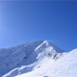Snejanka peak - a view of the snowy peak