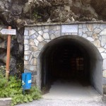 the artificial entrance to the third level of the cave