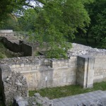 reconstructed remains of ancient building at the city of Arbitus