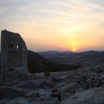 ancient city of perperikon - a sunset from the city
